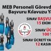 MEB Personeli Görevde Yükselme Başvuru Kılavuzu Yayınlandı