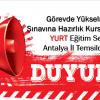 Antalya İli Görevde Yükselme Sınavına Hazırlık Kurs Saatleri