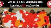 MEB 2019 İl Dışı Yer Değişikliği İşlemi (Ş) Mağduriyeti