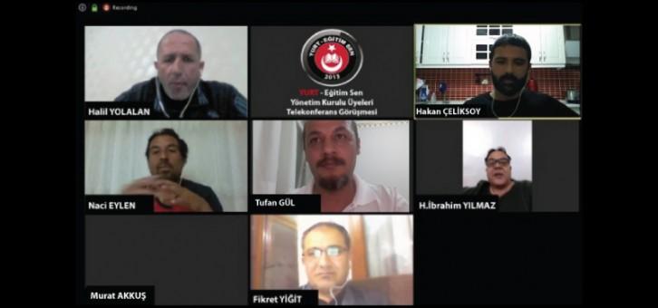 Yönetim Kurulu video konferans ile toplantı gerçekleştirdi